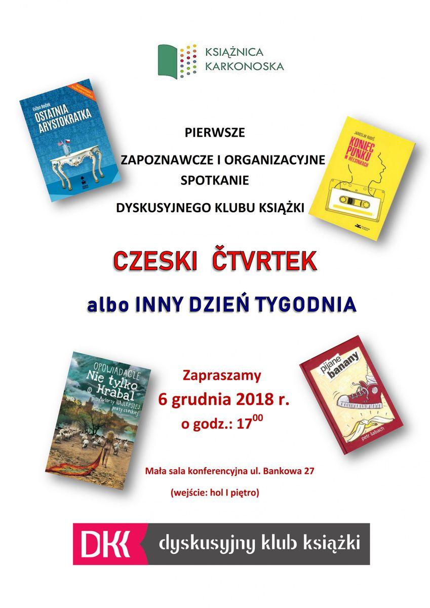 Jelenia Góra: Klub książki czeskiej w Książnicy