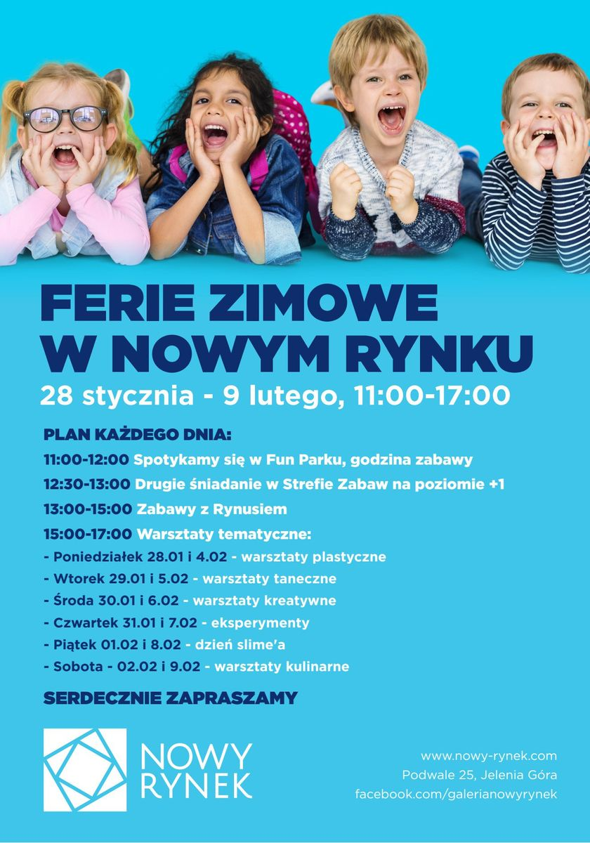 Jelenia Góra: Bezpłatne zajęcia dla dzieci w FERIE