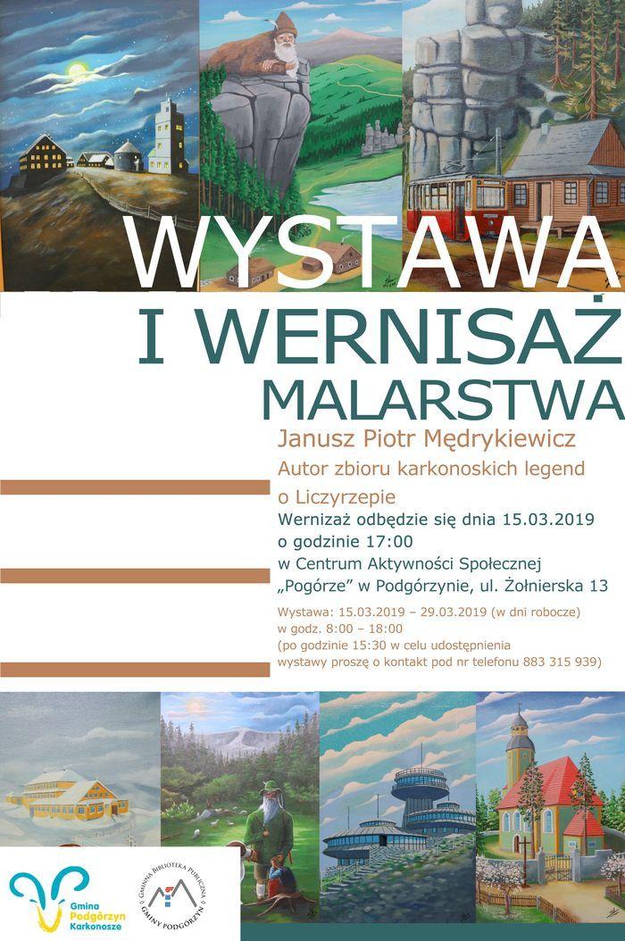 Podgórzyn: Wernisaż wystawy J.P. Mędrykiewicza