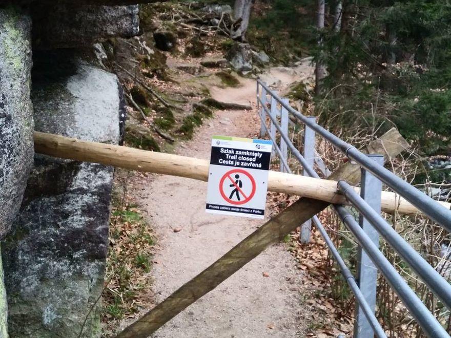 Szklarska Poręba: Zamknięty szlak w rejonie Szklarki