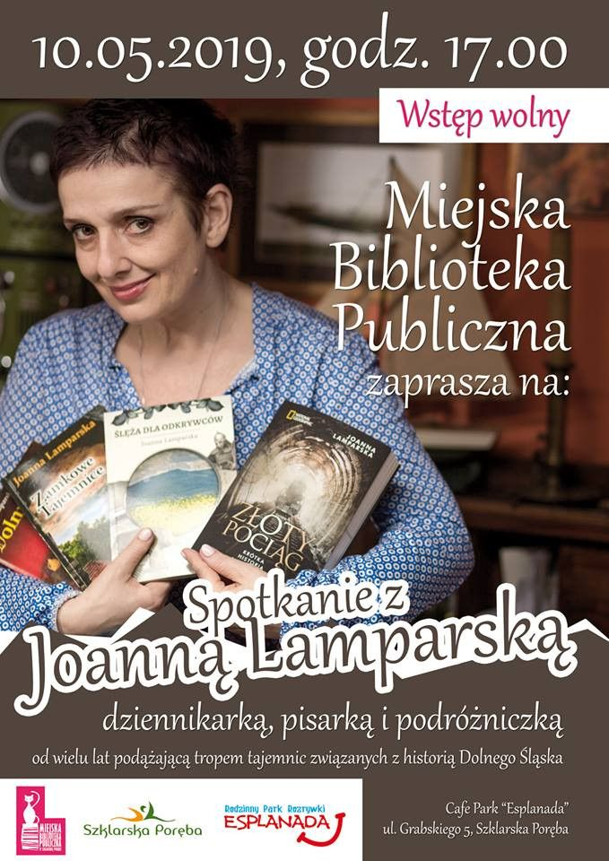 Szklarska Poręba: Spotkanie z Joanną Lamparską w Esplanadzie