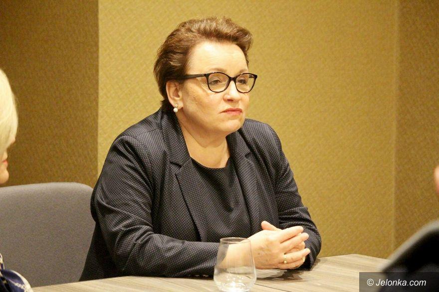 Jelenia Góra: Minister Zalewska o wyborach i edukacji
