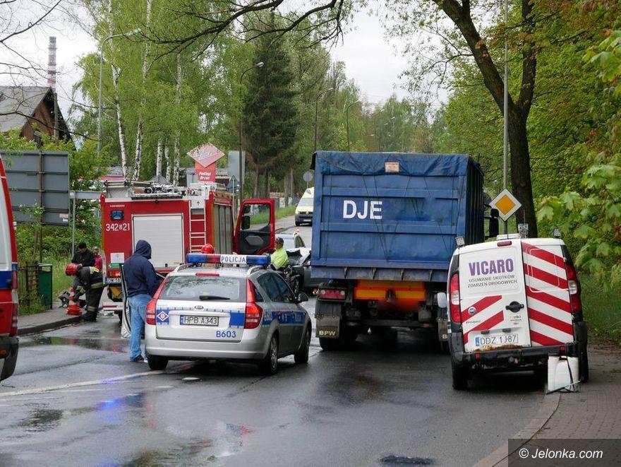 Jelenia Góra: Kolizja trzech aut