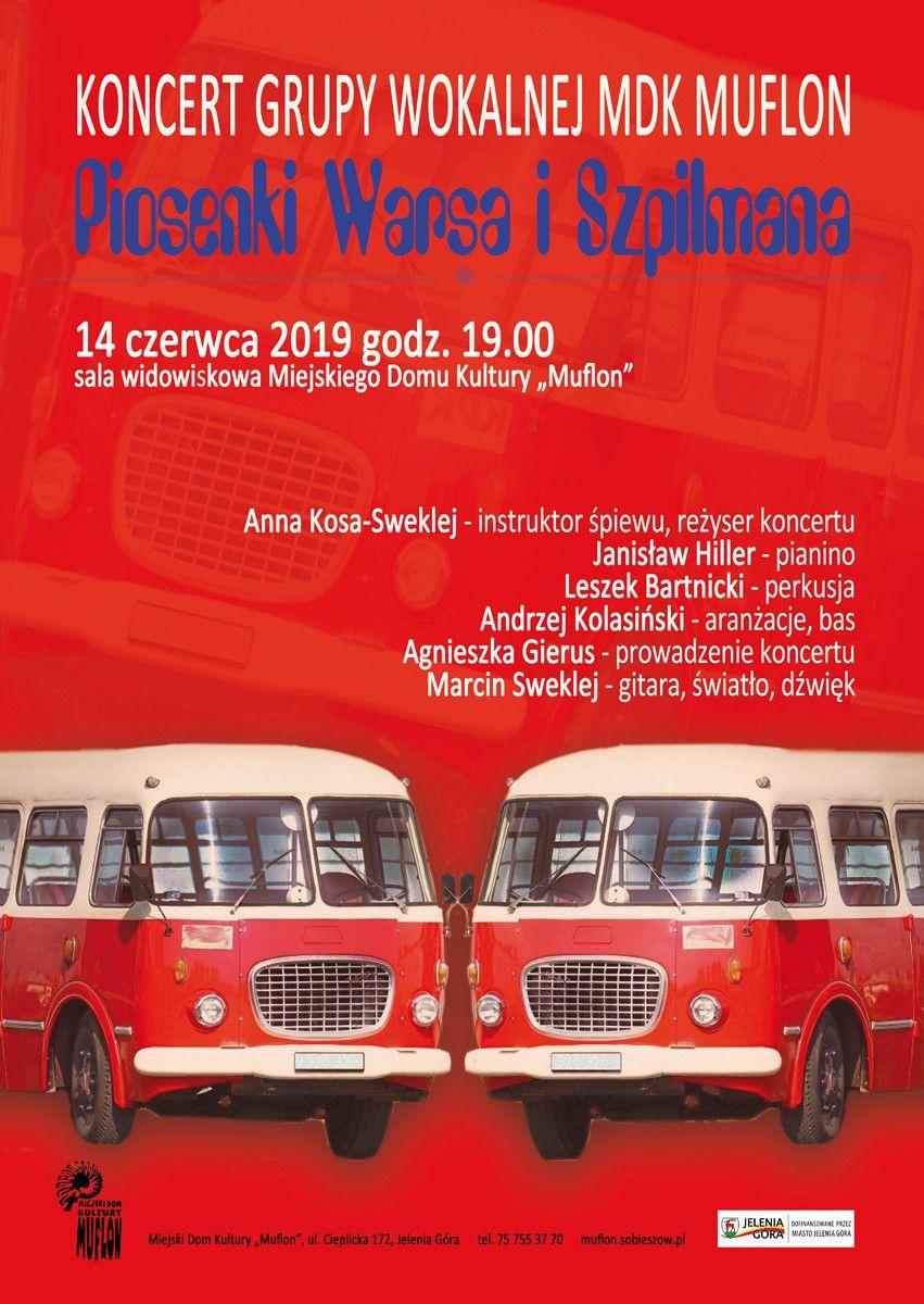 """Jelenia Góra: Piosenki Warsa i Szpilmana w """"Muflonie"""""""