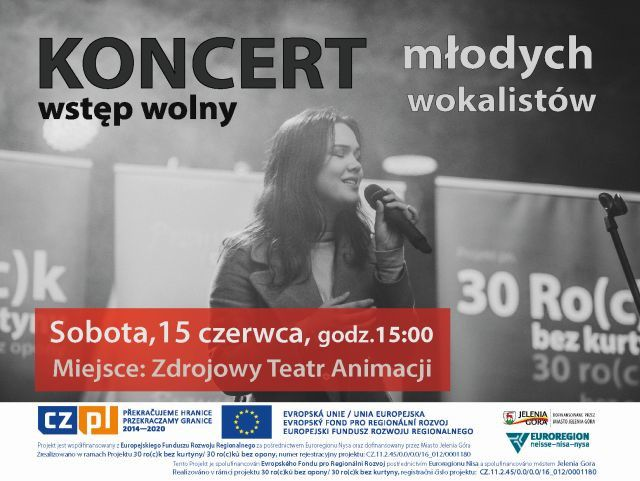 Jelenia Góra: Koncert młodych wokalistów – 30. ro(c)k bez kurtyny