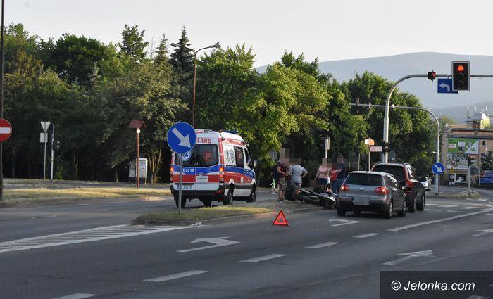 Jelenia Góra: Zderzenie motocykla z volvo w Cieplicach