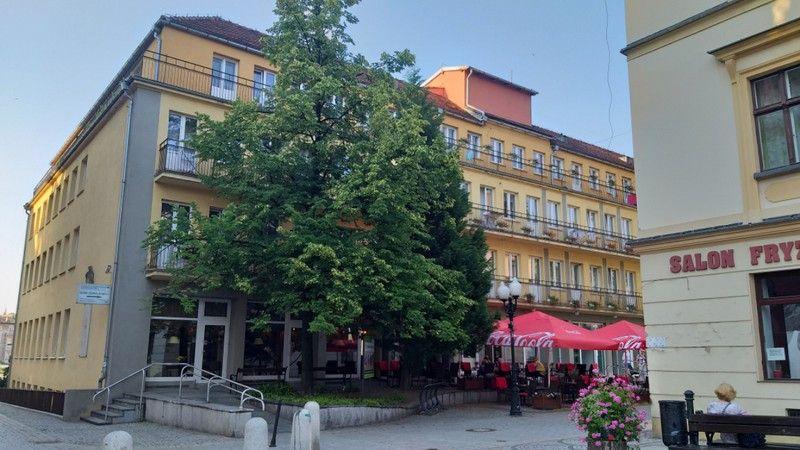 Jelenia Góra: Rój pszczół na Placu Piastowskim
