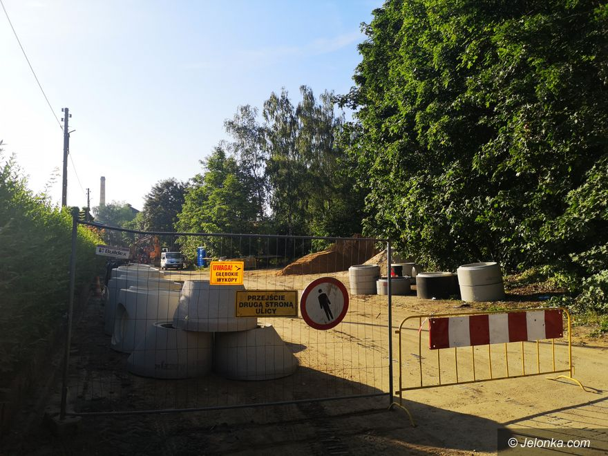 Jelenia Góra: Krakowska w budowie