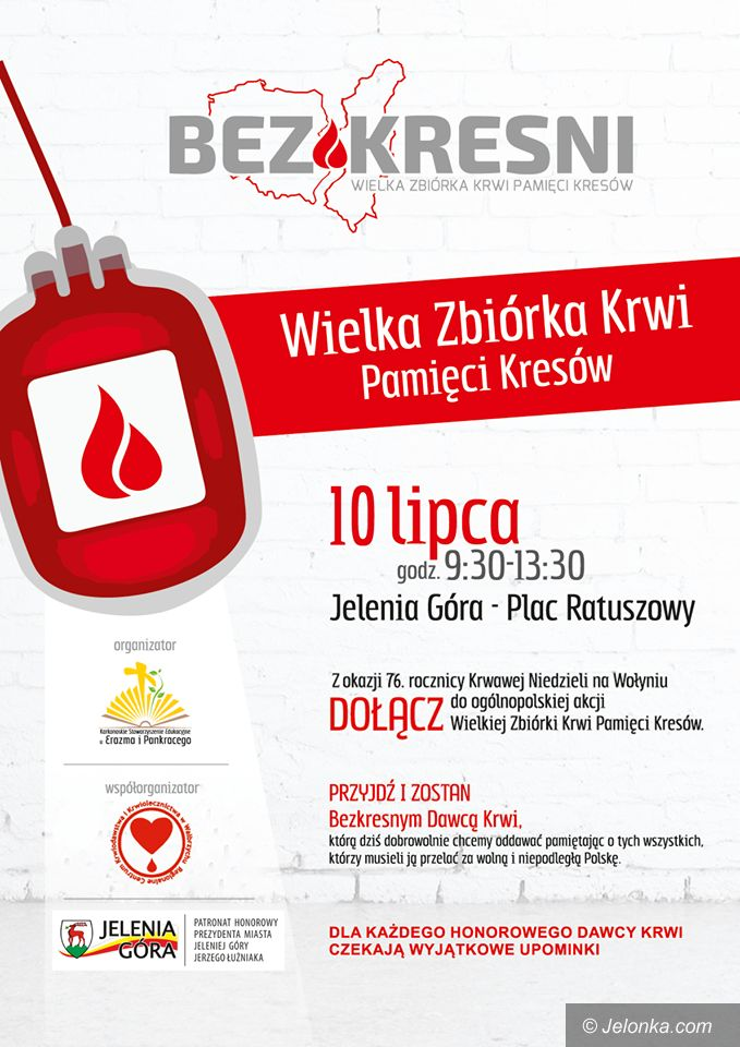 Jelenia Góra: Oddaj krew – w środę