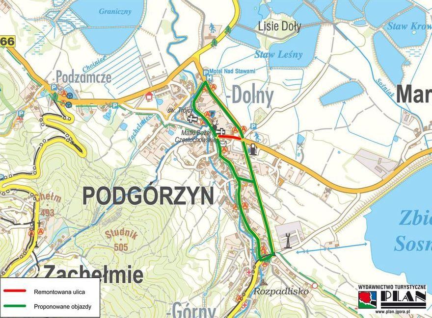 Podgórzyn: Utrudnienia drogowe w gminie Podgórzyn