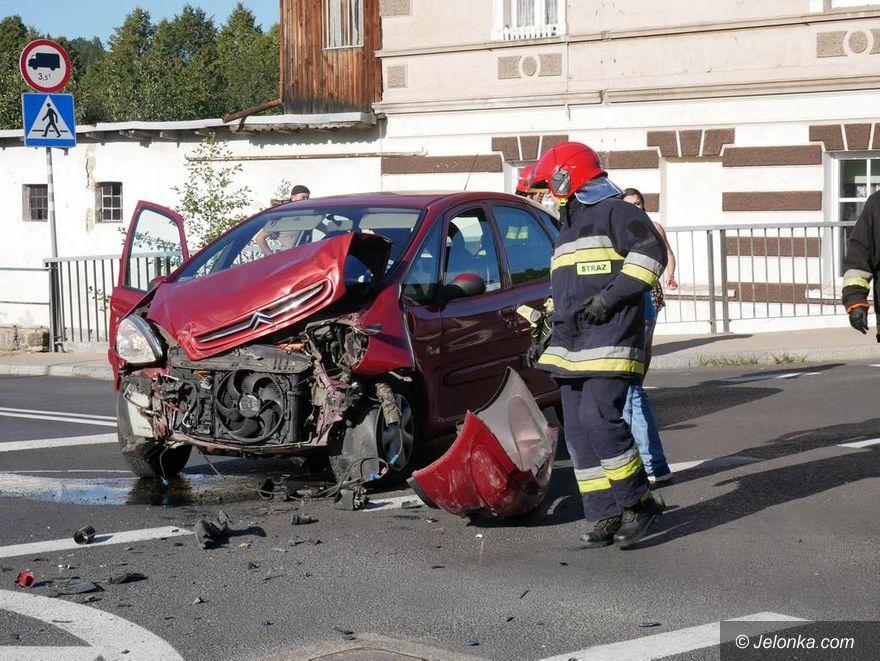 Kowary: Zderzenie dwóch aut