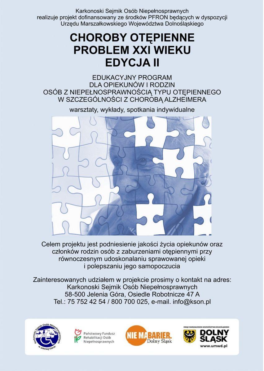 Jelenia Góra: Wykłady o otępieniu i demencji w KSON–ie