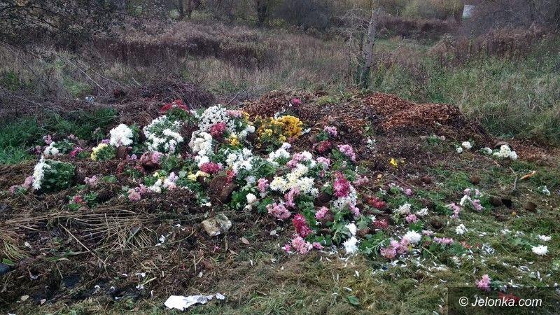 Jelenia Góra: Wyrzucali kwiaty za płot