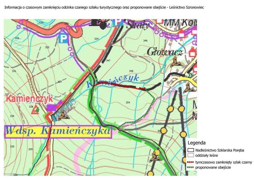 Szklarska Poręba: Zamknięty szlak przy Kamieńczyku
