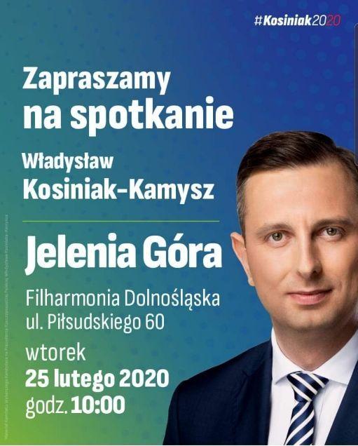Jelenia Góra: Spotkanie z Władysławem Kosiniakiem – Kamyszem