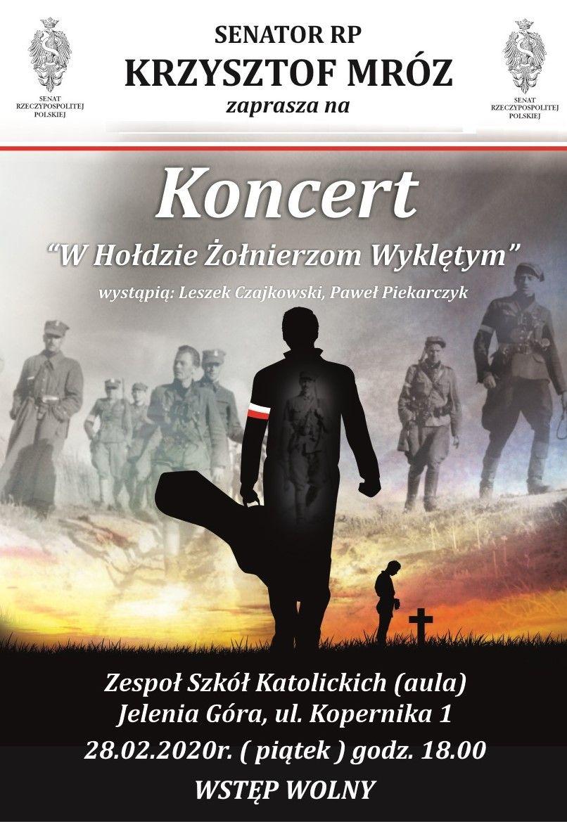 Jelenia Góra: Koncert w hołdzie żołnierzom wyklętym