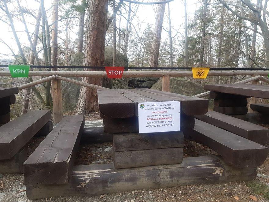 Karkonosze: Zamknięte miejsca odpoczynku przy szlakach