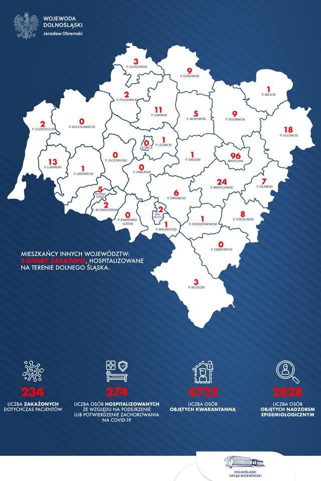 Region: Kolejne zachorowania w Jeleniej Górze (aktualizacja)