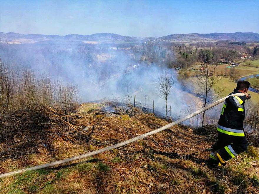 Trzcińsko: Pożar na Górze Tunelowej