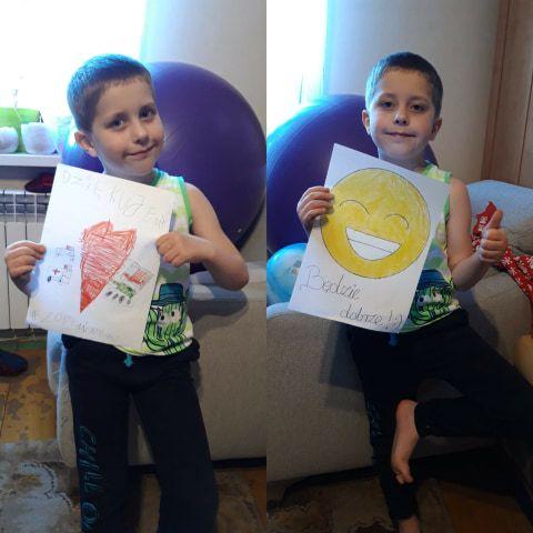 Karpacz: Przedszkolaki z Karpacza dziękują za poświęcenie