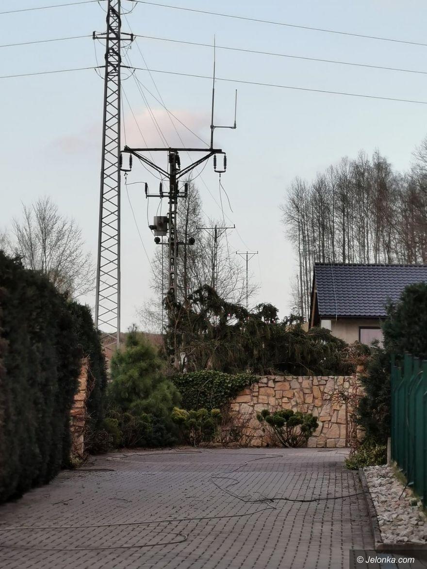 Jelenia Góra: Zerwana  linia na Granicznej