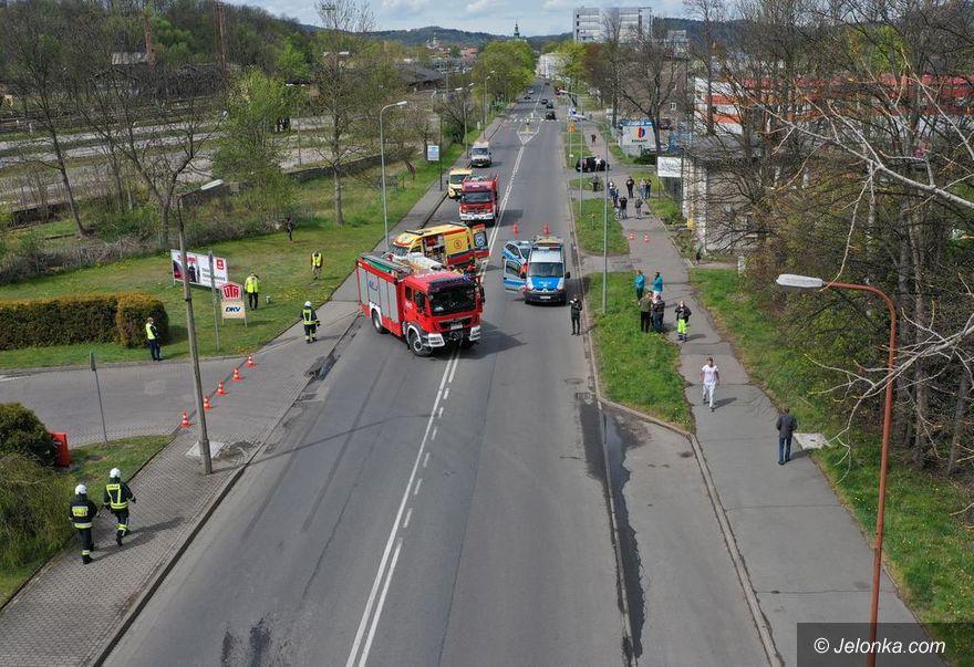 Jelenia Góra: Potrącenie pieszego