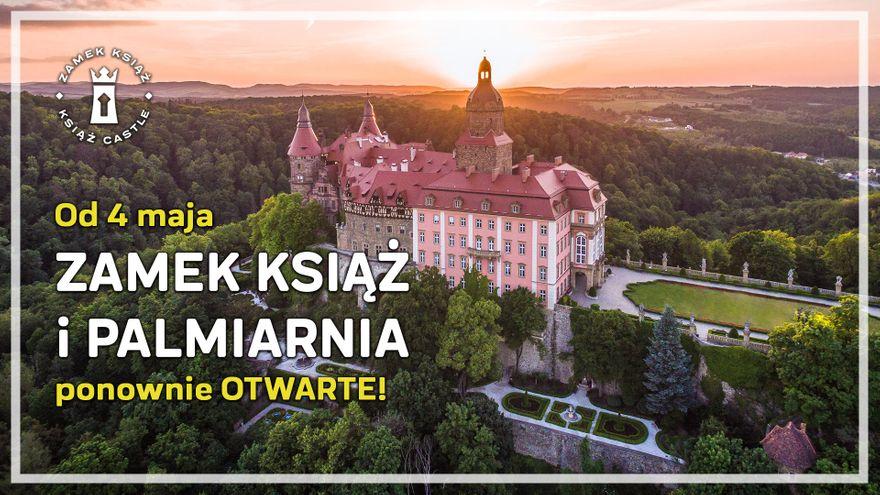Wałbrzych: Zamek Książ i Palmiarnia otwarte od 4 maja