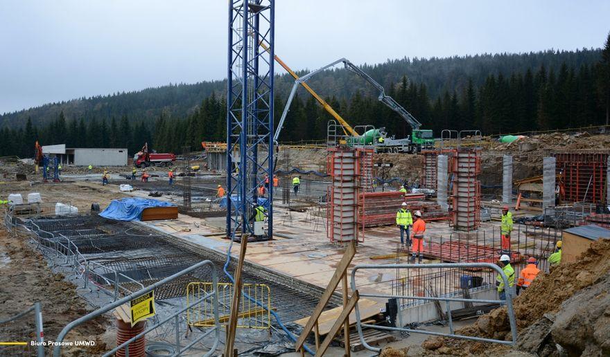 Szklarska Poręba: Trwa budowa na Polanie Jakuszyckiej