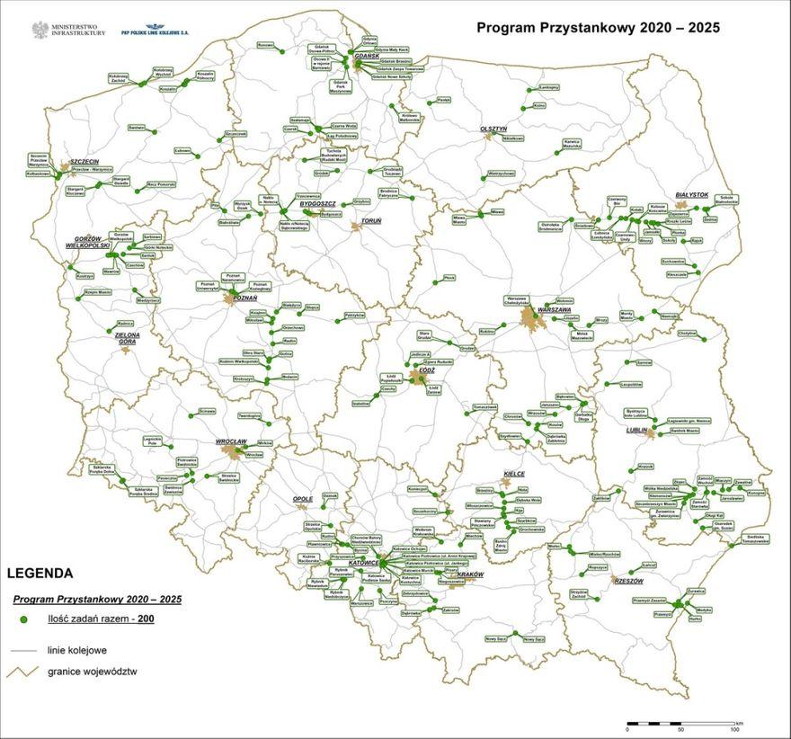 Region: 200 przystanków kolejowych, w tym dwa w naszym regionie