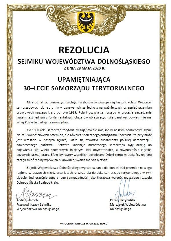 Wrocław: Jednomyślnie nad rezolucją