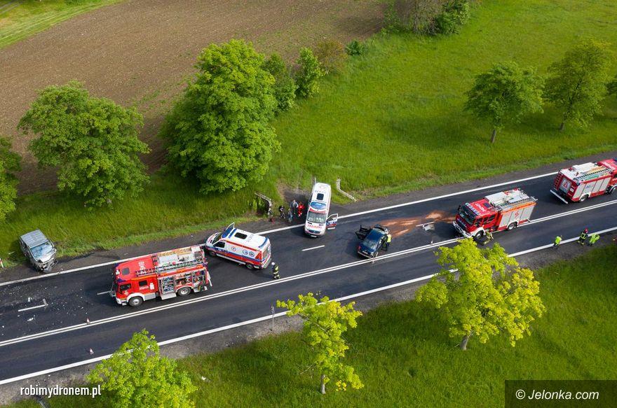 Radomierz: Zderzenie czterech aut