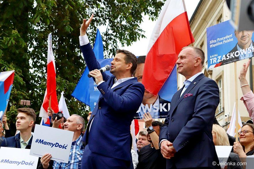 Jelenia Góra: Liczne poparcie dla Trzaskowskiego