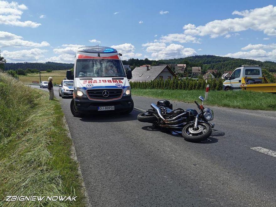 Siedlęcin: Zderzenie z motocyklem
