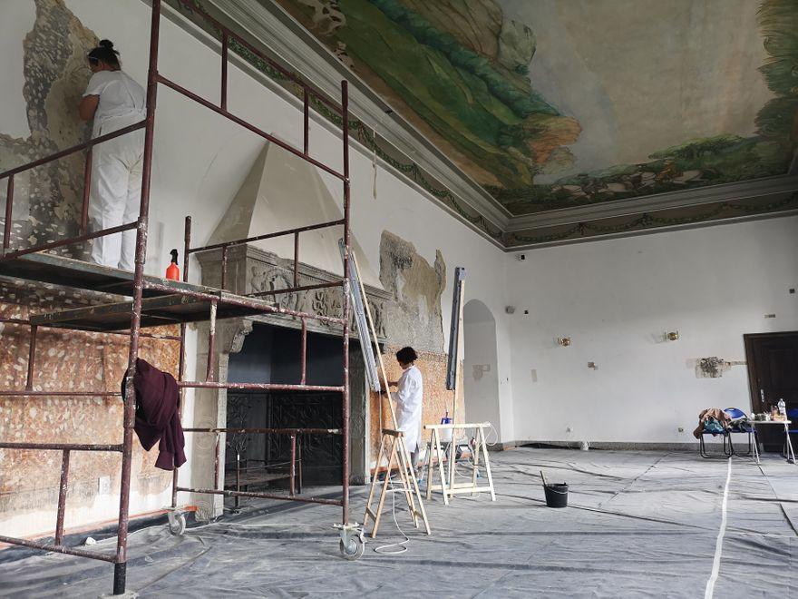 Wałbrzych: Sala Krzywa w Zamku Książ odzyskuje dawny blask