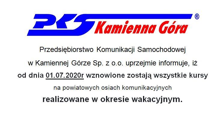 Kamienna Góra: PKS Kamienna Góra wznawia połączenia