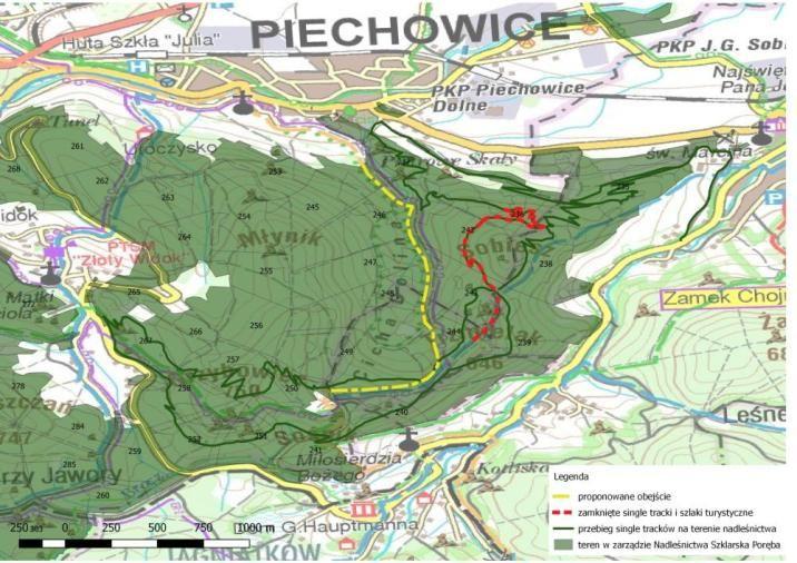 Powiat: Zamknięty szlak w okolicy Sobieszowa