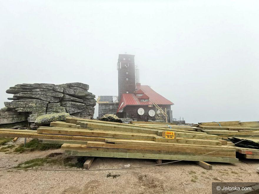 Karkonosze: Remont na Śnieżnych Kotłach