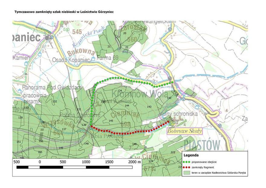 Powiat: Zamknięty szlak do Bobrowych Skał