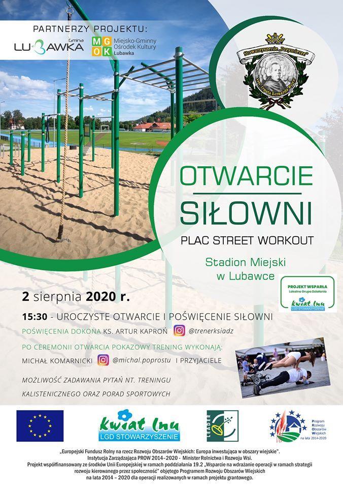 Lubawka: Otwarcie siłowni zewnętrznej w Lubawce