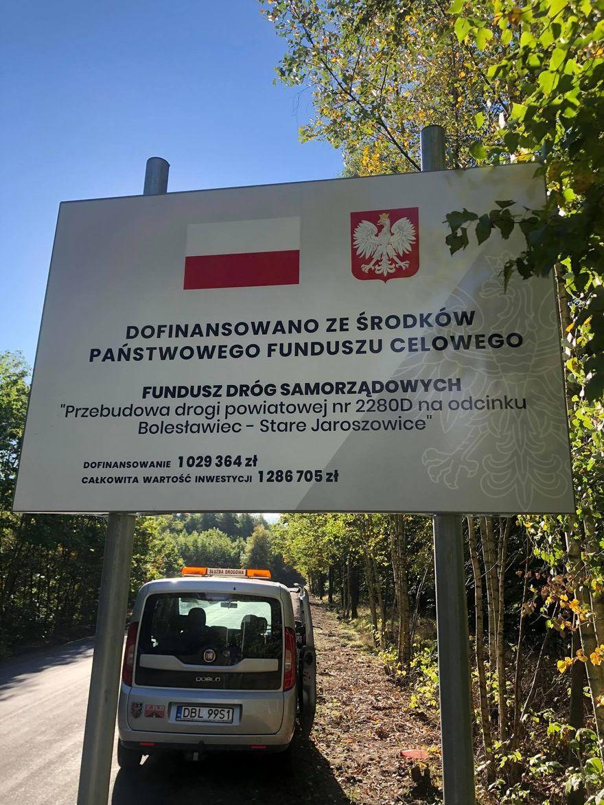 Bolesławiec, Stare Jaroszowice: Droga wyremontowana