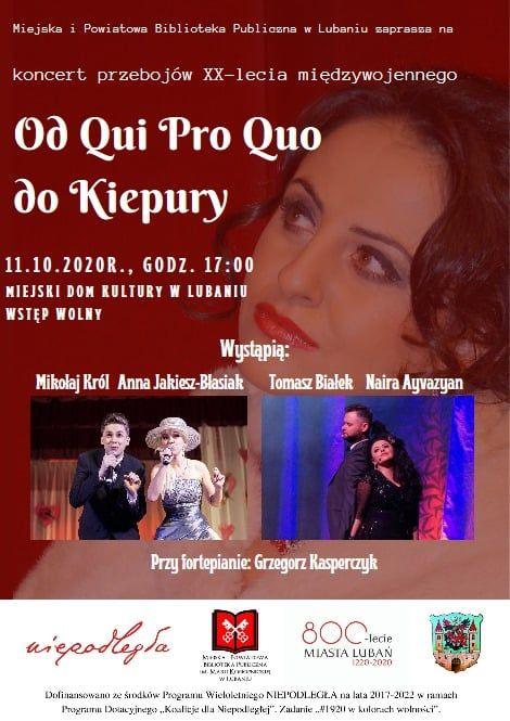 Lubań: Od Qui Pro Quo do Kiepury