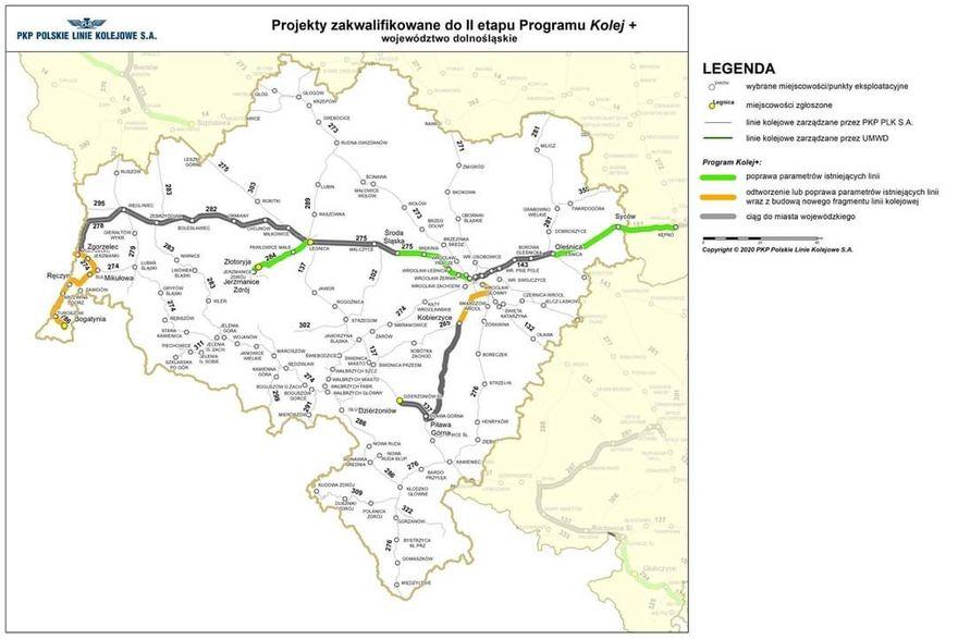 Region: Które linie w programie Kolej Plus?