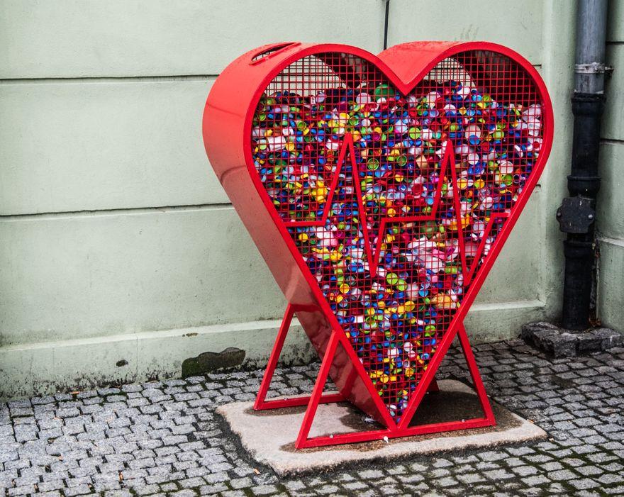 Gryfów Śląski: Serce z nakrętek
