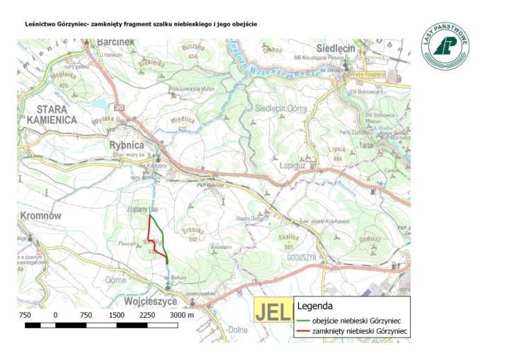 Rybnica: Zamknięty szlak w pobliżu Rybnicy