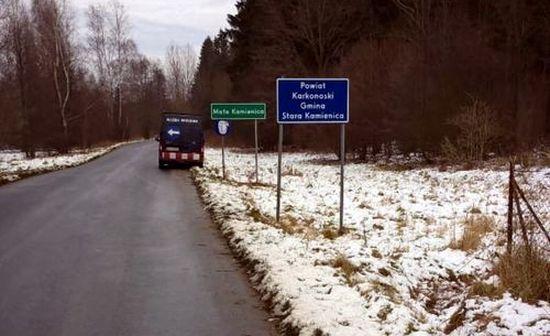 Powiat: Na tablicach drogowych powiat już karkonoski