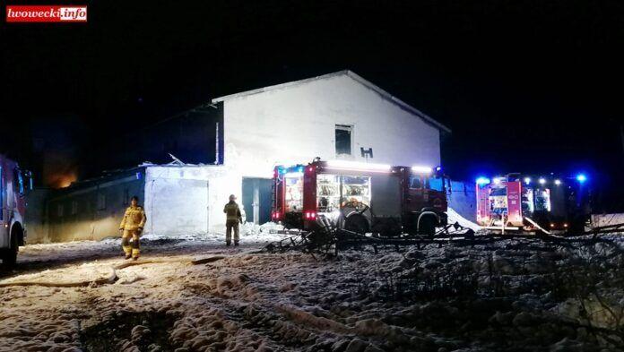 Powiat Lwówecki: Paliła się chlewnia