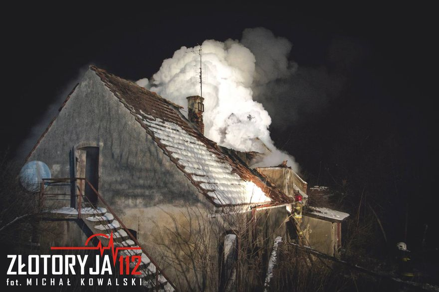 Złotoryja: Płonął pustostan