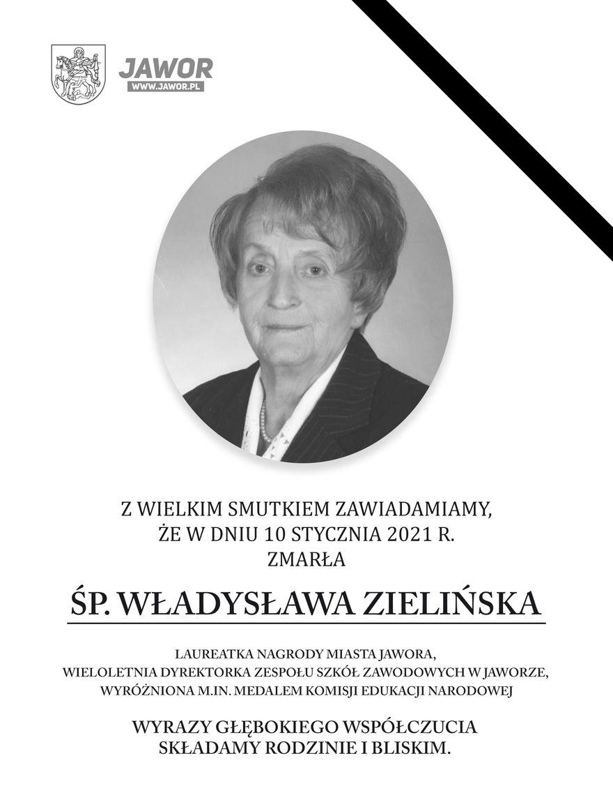 Jawor: Nie żyje Władysława Zielińska