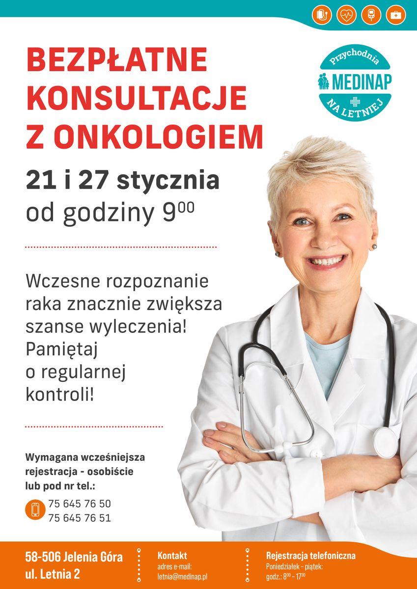 Jelenia Góra: Bezpłatne konsultacje z onkologiem (aktualizacja)