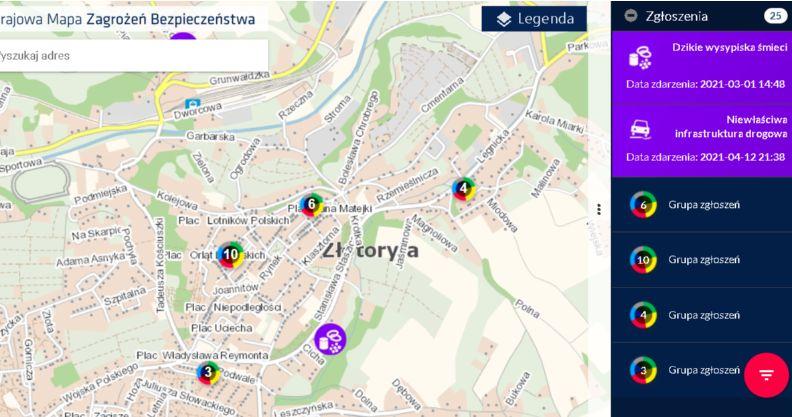 Powiat złotoryjski: Co na mapie zagrożeń?